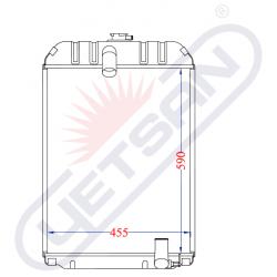 Radiator racire (cupru) U650