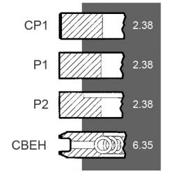 Set segmenti STD Claas - Harvesting, Landini, Massey Ferguson