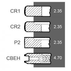 Set segmenti STD Ford