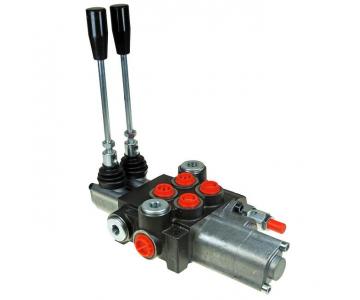 Distribuitor hidraulic cu 2 manete 40L, o sectiune cu flotant
