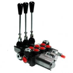 Distribuitor hidraulic cu 3 manete 40L, o sectiune cu flotant